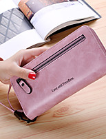 Women Bags PU Wallet Zipper for Casual Office & Career All Season Blue Black Blushing Pink Gray Purple