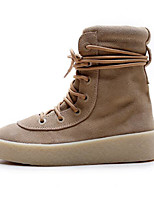 cheap -Women's Shoes Nubuck leather Cowhide Fall Winter Comfort Combat Boots Boots For Casual Brown