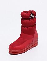 preiswerte -Damen Schuhe maßgeschneiderte Werkstoffe Winter Schneestiefel Stiefel Runde Zehe Mittelhohe Stiefel Für Normal Weiß Schwarz Rot