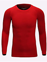 Men's Running T-Shirt Long Sleeves Fast Dry Breathability T-shirt Sweatshirt for Milk Fiber Tight Red Blue Grey S M L XL XXL