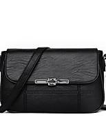 cheap -Women Bags PU Crossbody Bag Zipper for Event/Party Casual Winter Fall Black Red Gray Purple