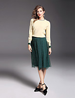 YIYEXINXIANG Women's Daily Work Simple Winter Sweater Skirt Suits