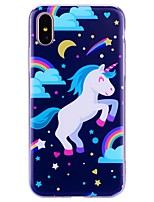 abordables -Coque Pour Apple iPhone X / iPhone 8 Motif Coque Licorne Flexible TPU pour iPhone X / iPhone 8 Plus / iPhone 8