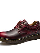 Men's Shoes Suede Spring Fall Light Soles Oxfords Running Shoes For Casual Burgundy Light Brown Black