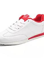 Недорогие -Для мужчин обувь Полиуретан Весна Осень Удобная обувь Кеды Назначение Повседневные Белый Розовый и белый Черно-белый