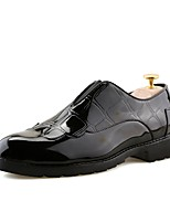 Men's Shoes PU Spring Fall Formal Shoes Loafers & Slip-Ons For Office & Career Brown Black