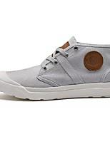 Недорогие -Для мужчин обувь Полотно Зима Удобная обувь Кеды Назначение Повседневные Черный Серый Темно-серый Красный