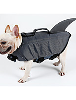 Hund Schwimmweste Hundekleidung Beiläufig / sportlich Solide Grau Gelb Kostüm Für Haustiere