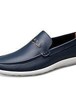 Men's Shoes PU Spring Fall Comfort Loafers & Slip-Ons For Outdoor Brown Black