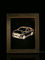 cheap -1 Set Of 3D Mood Night Light LED Lights USB Bedroom Photo Frame Lamp Gifts Car