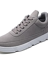 cheap -Men's Shoes Nubuck leather Winter Comfort Sneakers for Casual Black Gray Blue