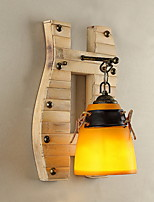 Wall Light Ambient Light Wall Sconces 40W 220V E27 Country Wood