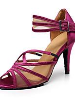 Femme Latines Similicuir Basket Professionnel Talon Aiguille Noir Violet Personnalisables