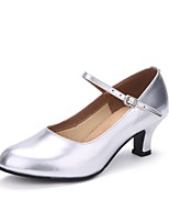 "cheap -Women's Modern Leather Heel Indoor Pearlised Customized Heel Silver 2"" - 2 3/4"" Customizable"
