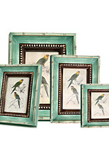 Country Rural Handmade Natural Wood Picture Frame Green F74A