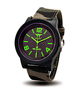 Men's Women's Fashion Watch Quartz Water Resistant / Water Proof Fabric Band Casual Cool Jade