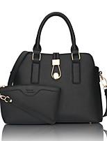 preiswerte -Damen Taschen PU Bag Set 2 Stück Geldbörse Set Reißverschluss für Hochzeit Formal Alle Jahreszeiten Schwarz Rote Rosa Fuchsia Himmelblau