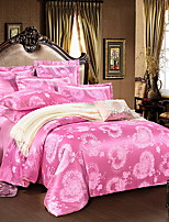 Luxury Poly/Cotton Printed Poly/Cotton 1pc Duvet Cover 2pcs Shams 1pc Flat Sheet