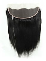 cheap -Remy Peruvian Natural Color Hair Weaves Straight Hair Extensions 1pc Black