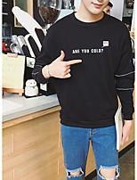 abordables -Sweatshirt Homme Sortie Décontracté / Quotidien Imprimé Col Arrondi Micro-élastique Polyester Manches Longues Hiver Automne