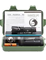 U'King Lanternas LED LED 1000 lm 3 Modo Cree T6 Com Bateria Campismo / Escursão / Espeleologismo Uso Diário Ciclismo Pesca Verde Violeta