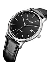 cheap -MEGIR Men's Casual Watch Fashion Watch Dress Watch Wrist watch Quartz Calendar / date / day Genuine Leather Band Casual Elegant