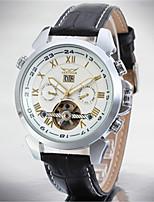 Муж. Повседневные часы Модные часы Нарядные часы Наручные часы С автоподзаводом Календарь Нержавеющая сталь Кожа Группа На каждый день