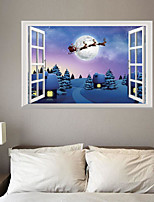 Christmas Wall Stickers Rose Decorative Wall Stickers,Bonded Material Home Decoration Wall Decal
