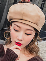 cheap -Women's Others Beret Hat,Casual Solid Spring, Fall, Winter, Summer Bow