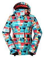 GSOU SNOW Skijacke Damen Skifahren Winter Sport Warm Wasserdicht Windundurchlässig tragbar Atmungsaktivität umweltfreundlich Polyester