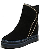 cheap -Women's Shoes Rubber Winter Fashion Boots Boots Round Toe For Outdoor Dress Black