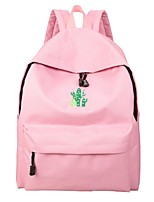Women Bags Canvas School Bag Zipper for Casual All Season Brown Green Black Blushing Pink