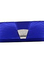 Women Bags Silk Evening Bag Pearl Detailing for Event/Party All Season Blue Silver Red