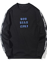 cheap -Men's Daily Sweatshirt Print Polyester