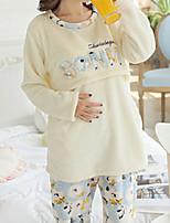 Costumes Pyjamas Femme,Animaux Coton Polyester Jaune