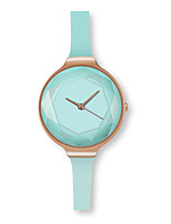 cheap -Women's Casual Watch Fashion Watch Chinese Quartz Chronograph Leather Rubber Band Casual Elegant Christmas Black White Blue Blushing Pink
