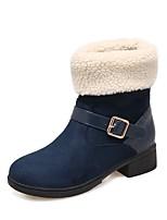 abordables -Mujer Zapatos Materiales Personalizados Otoño Invierno Confort Botas de nieve Botas de Moda Botas Dedo redondo Punta cerrada Mitad de