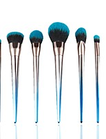 7 pcs Makeup Brush Set Pony Synthetic Hair Professional Soft Resin Blush