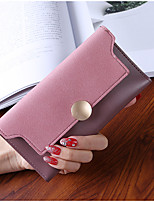 Women Bags PU Wallet Buttons for Shopping Office & Career All Season Green Black Gray Purple Brown
