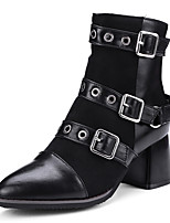 abordables -Mujer Zapatos Semicuero Otoño Invierno Botas de Moda Botas hasta el Tobillo Botas de Combate Botas Dedo Puntiagudo Botines/Hasta el