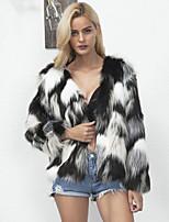 Long Sleeves Faux Fur Wedding Party / Evening Women's Wrap Coats / Jackets