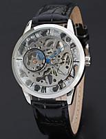 WINNER Муж. Модные часы Нарядные часы Наручные часы Механические, с ручным заводом С гравировкой Кожа Группа Винтаж На каждый день Cool