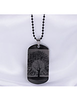 Men's Pendant Necklaces Tree of Life Stainless Steel Hip-Hop Personalized Jewelry For Daily Casual