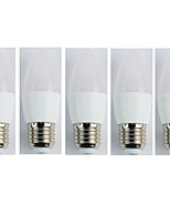 cheap -5pcs 4W E27 LED Globe Bulbs C35 6 leds SMD 3528 Warm White 300lm 3000K AC 110-240V
