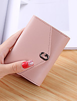 cheap -Women Bags PU Wallet Buttons for Shopping Office & Career All Season Black Blushing Pink Gray Light Purple