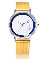 abordables -Mujer Reloj Casual Reloj de Moda Reloj de Pulsera Chino Cuarzo Esfera Grande Gel de Sílice Banda Casual Azul Naranja Marrón Verde Amarillo