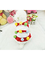 cheap -Dog Sweater Dog Clothes Christmas Stylish Stripe Red Green Costume For Pets