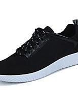 Недорогие -Для мужчин обувь Шёлк Весна Осень Вулканизованная обувь Кеды Назначение Повседневные Черный Серый Коричневый