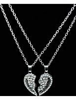 Women's Pendant Necklaces Heart Rhinestone Alloy Love Fashion Jewelry For Birthday Daily