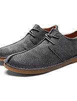 Men's Shoes PU Spring Fall Comfort Oxfords For Casual Khaki Gray Black